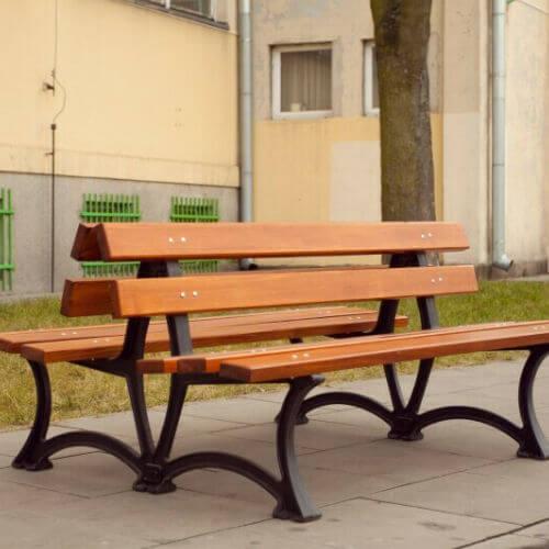 Parkové lavičky (nerezové a ocelové s dřevem)