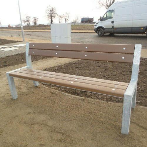 Parkové lavičky (kovové s plastem)